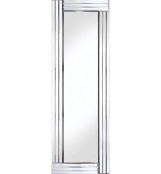 Frameless Bevelled Triple Band Silver Mirror 120cm x 40cm