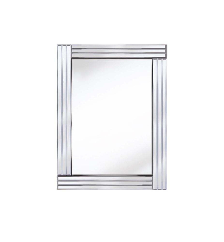 Frameless Bevelled Triple Band Silver Mirror 80cm x 60cm