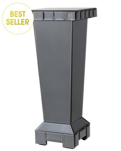 Smoked Mirrored Pedestal Lamp Stand medium