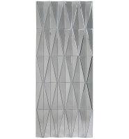 Multi Facet Diamond Panel Silver Bevelled Mirror 150cm x 60cm