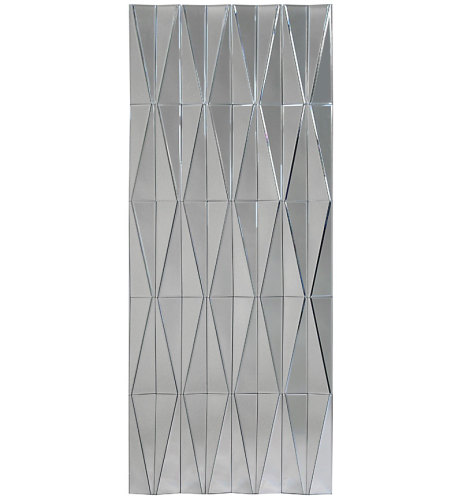 Multi Facet Diamond Panel Silver Bevelled Mirror 150cm x 60cm