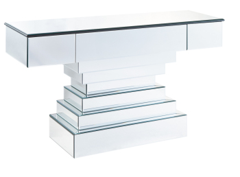 Stepped Mirrored Console Table