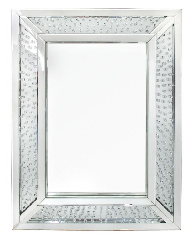 Floating Crystals Wall Mirror 110cm x 76cm