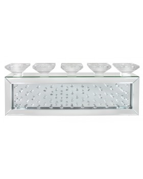 Floating Crystals Mirrored Candle / Tealight Holder  68cm x  24cm x 10cm