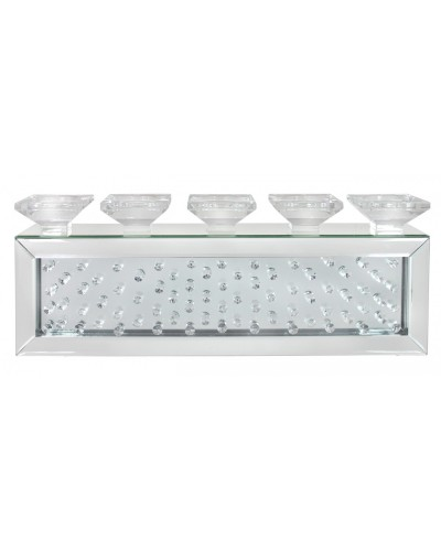 Floating Crystals Mirrored Tealight Holder