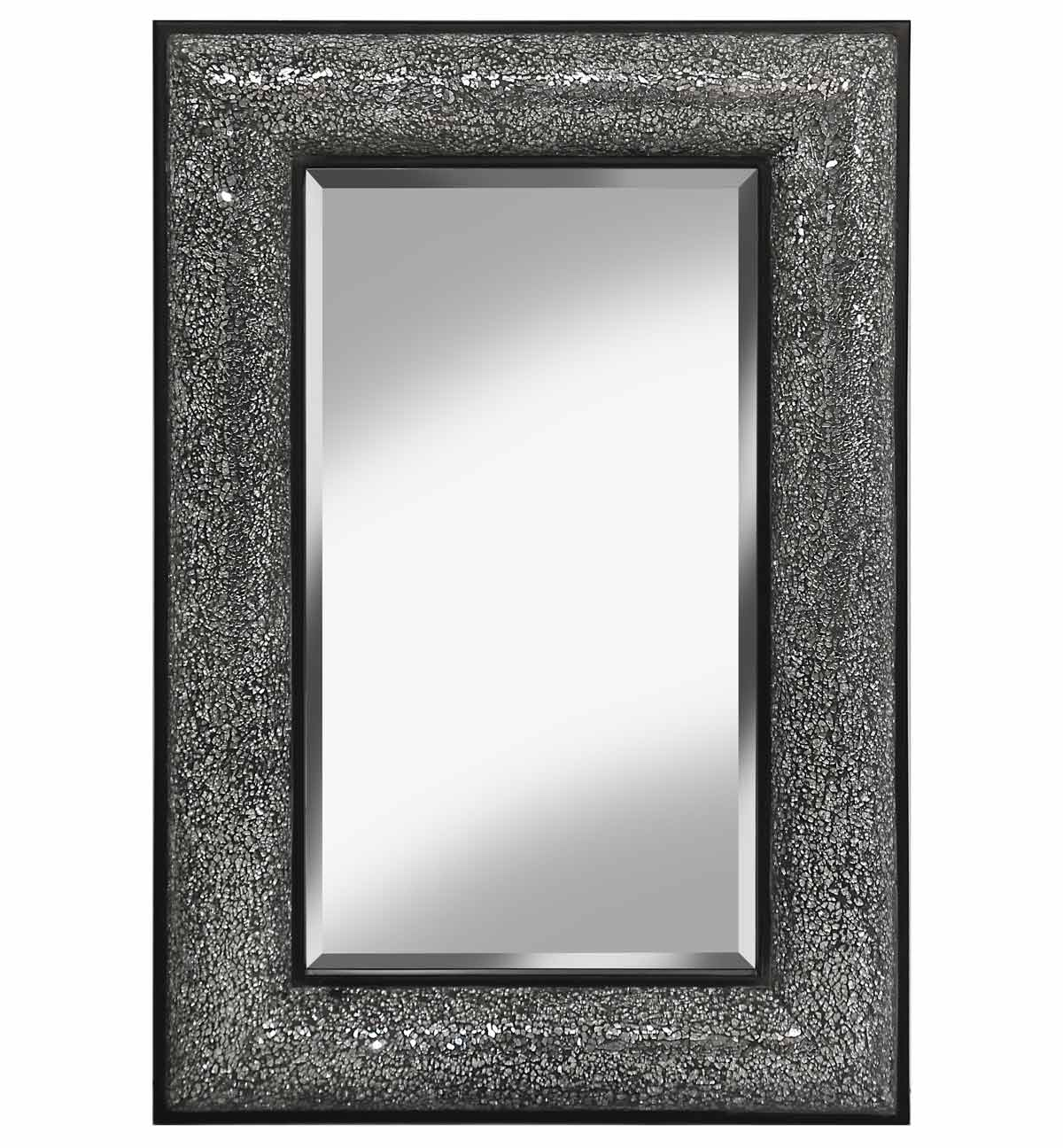 Rectangular Crushed Glass Mosaic Sparkle Bevelled Mirror
