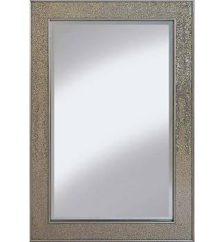 Flat Bar  Crushed glass Mosaic Sparkle Bevelled Mirror in Champagne - 3 sizes