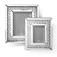 "Floating Crystals mirrored Photo Frame 5"" x 7"" item in stock"