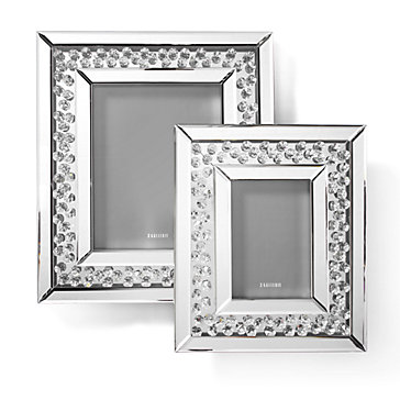 "Floating Crystals mirrored Photo Frame 8"" x 10"""