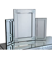 Diamond Cut Tri Fold Mirror 78cm x 54cm