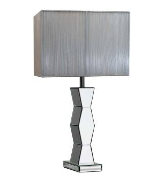 Shaped Silver Mirrored Lamp