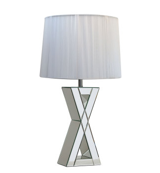 "Zena ""X"" Mirrored Lamp"