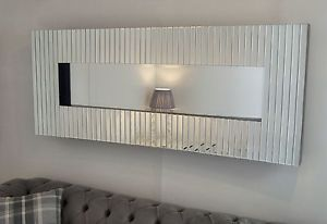 "curved bevelled large Veneitan wall Mirror 60"" x 24"""