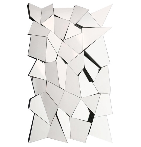Multi Facet Prism Silver Bevelled Mirror 90cm x 60cm