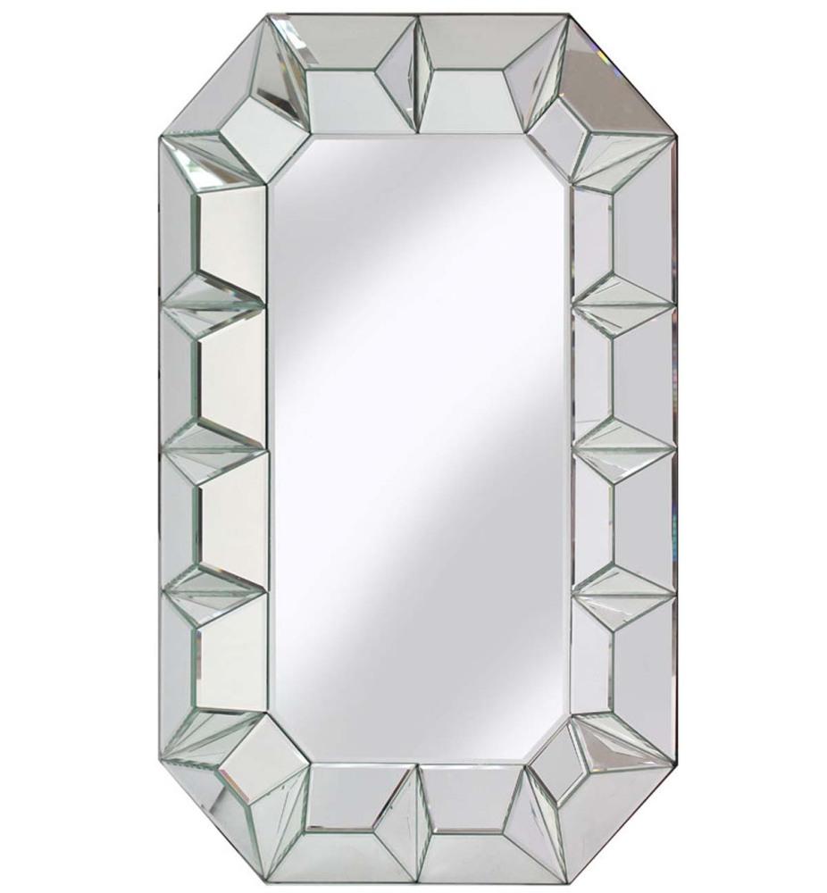 Multi Facet Silver Bevelled Mirror 90cm x 60cm