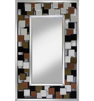 Dakota Silver Bevelled Mirror 120cm x 80cm