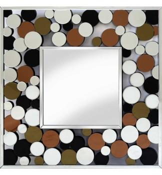 Dakota Silver Bevelled Square Mirror 100cm x 100cm