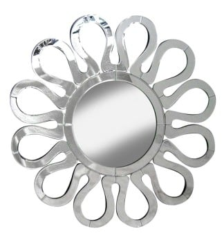 Decorative Star Mirror Silver 85cm dia