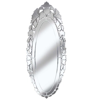 Venetian Moet Silver Mirror 49cm x 120cm