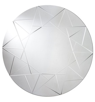 "Shards Round Mirror 39""  dia"