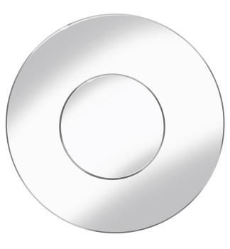 Prestige Circle Mirror Silver 100cm dia