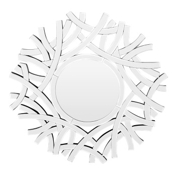 Branches Bevelled Wall Mirror 73 dia