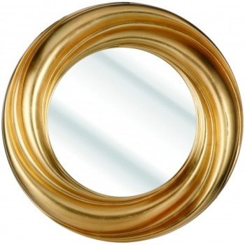 Swirl Gold Framed Mirror 91cm dia