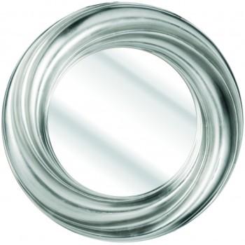 Swirl Silver Framed Mirror 91cm dia
