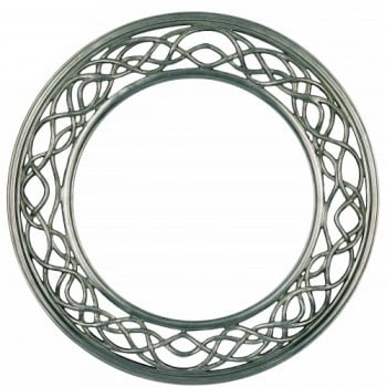 Weave Silver Framed Mirror 109cm dia