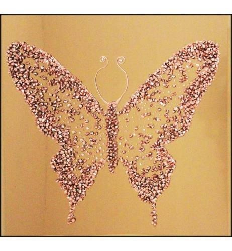 Abstract Butterfly Bronze Mirrored Wall Art 75cm x 75cm
