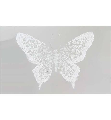 Abstract Butterfly Silver Mirrored Wall Art 2 sizes