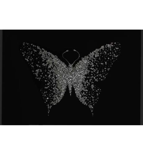 Abstract Butterfly Black Mirrored Wall Art 2 sizes
