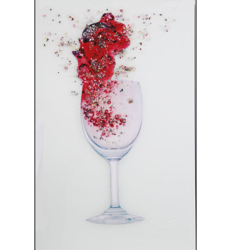 Abstract Flower Design Crystal Sparkle Wall Mirror