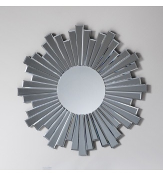 Multi Facet Italia Bevelled Smoked Grey Mirror 81cm dia