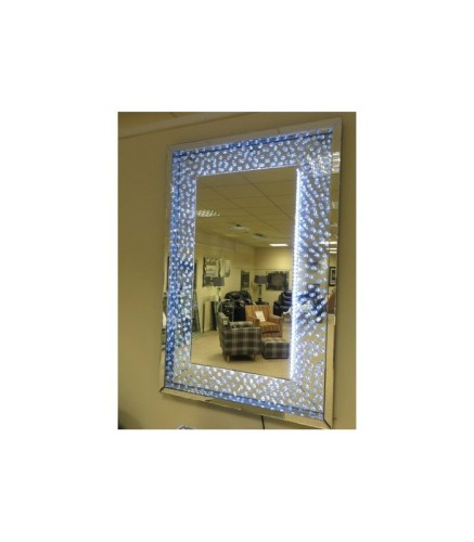Floating Crystals Rhombus Bevelled Wall Mirror As Seen In Housing Units At Silly Money