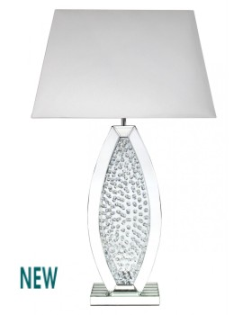 Floating Crystals Mirrored Lamp 98cm