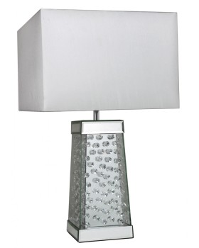 Floating Crystals Mirrored Lamp 60cm x 35cm