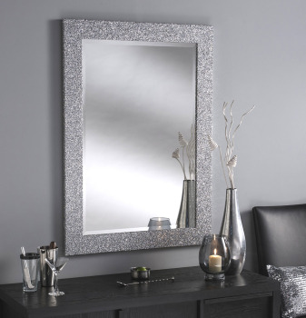 Sparkle Glitter Frame Bevelled Mirror 4 sizes available