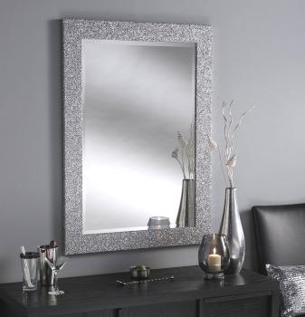 Sparkle Glitter Frame Bevelled Mirror 4 sizes available