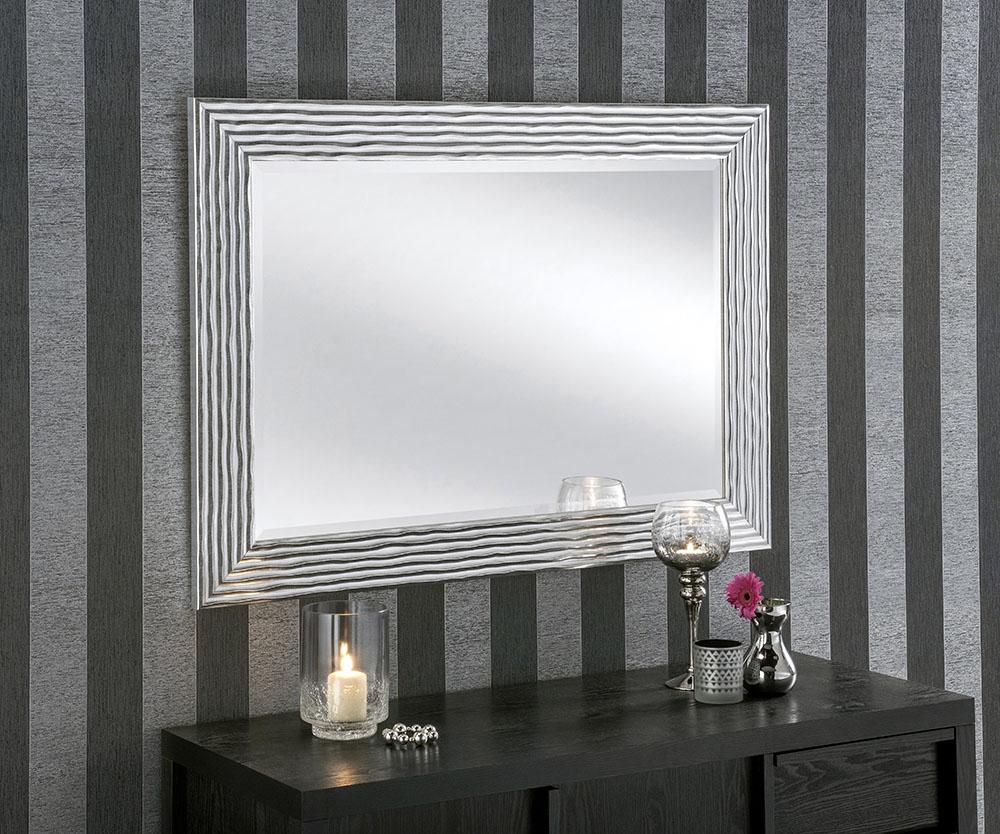 Weave Silver Framed Mirror 109cm dia