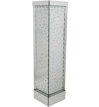 Floating Crystals Mirrored Vase Silver Large 89cm x 20cm item instock