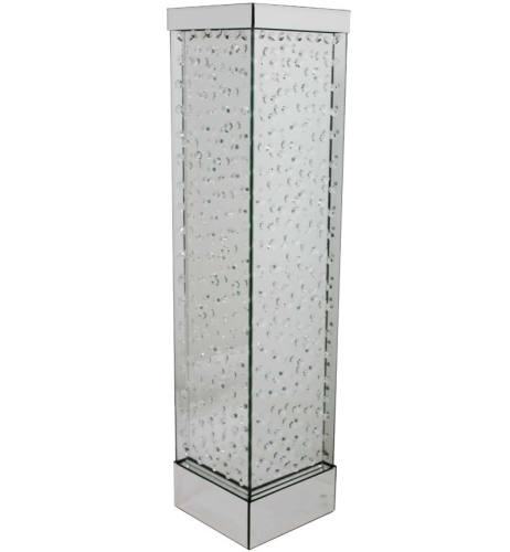 Floating Crystals Mirrored Vase Silver Large 89cm x 20cm