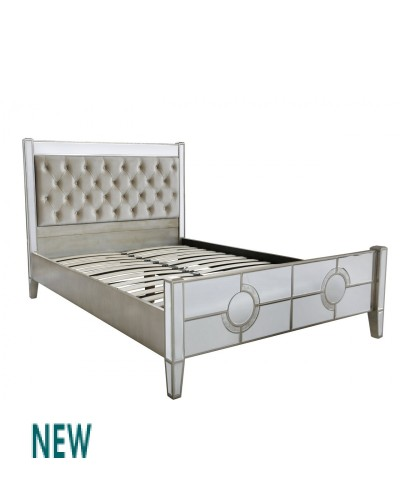 marakesh mirrored bed frame - Mirrored Bed Frame