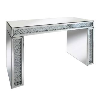 Floating Crystals Mirrored Console Table 2 Draw 118cm x 79cm