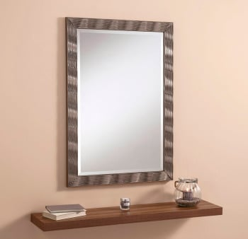 "Elvia Champagne Gloss Framed Mirror 41"" x 29"""