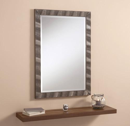 Elvia Champagne Gloss Framed Mirror 41