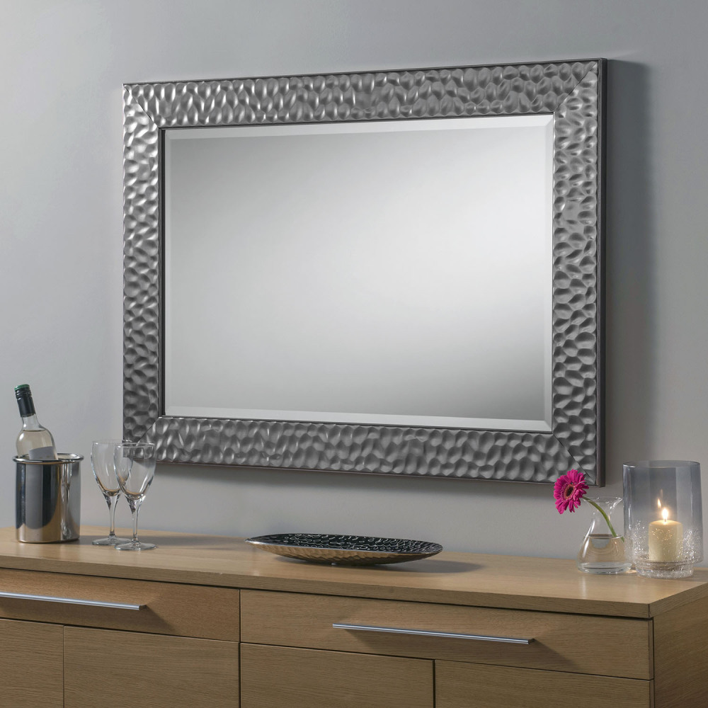 Grey Metalic Framed decorative Mirror 67
