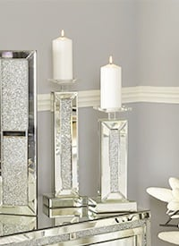 Floating Crystal & Crush Candle Sticks