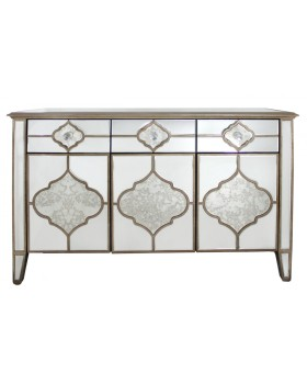 Sharma 3 Draw Mirrored Cabinet / Sideboard