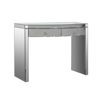 Sienna Mirrored Curved 2 draw Console Table